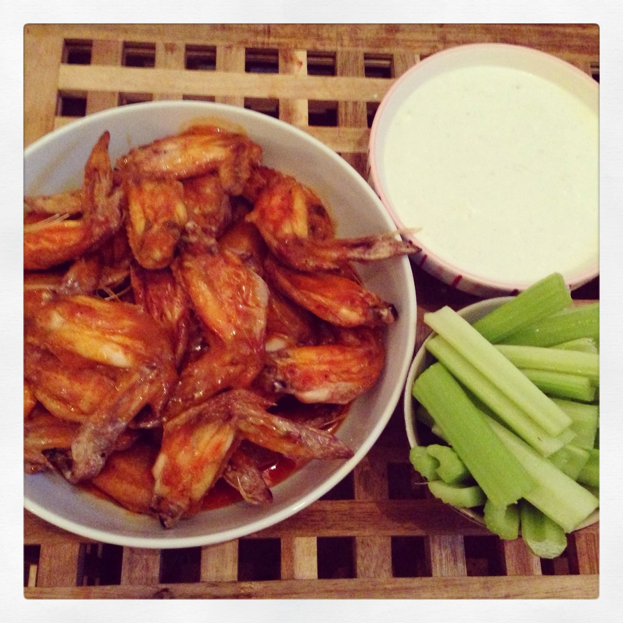 Throwback Thursday: Buffalo wings & blue cheese dip