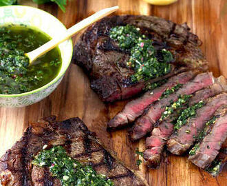 Gegrilde Steak met Chimichurrie