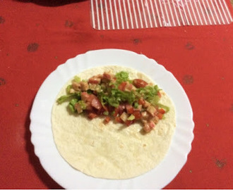 Wraps com delicias do Mar
