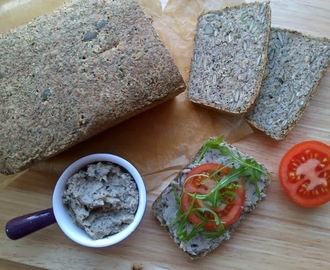 Rocket & Rose's Black Olive Pate with Delciously Ella's Superfood Bread (vegan, gluten & yeast free!)