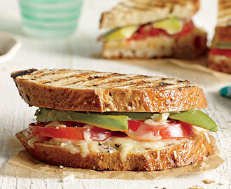 Avocado and Tomato Grilled Cheese Sandwiches