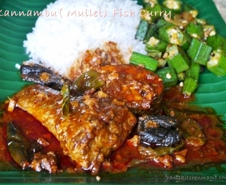 Kannambu/Mullet Fish Curry Kerala Style/ Spicy Mullet/Kannambu Curry with Kudampuli