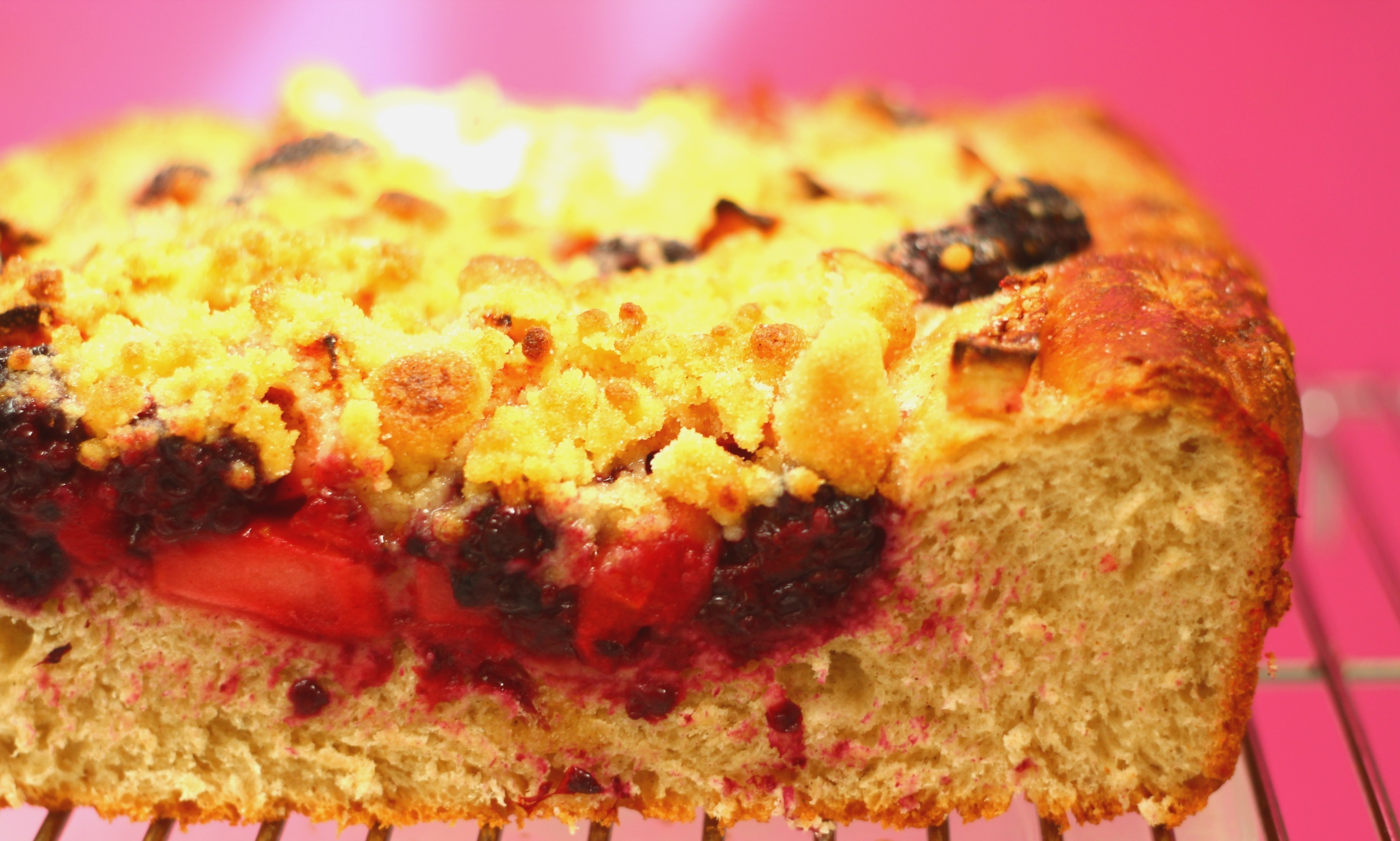 Blackberry and Apple Streusel Kuchen