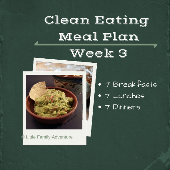Clean Eating Meal Plan Week 3
