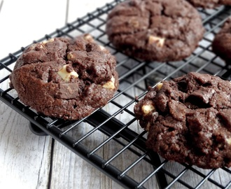 Black & White Double Chocolatechip Cookies