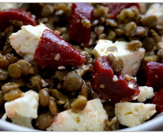Green Lentil, Feta and Pickled Beet Salad