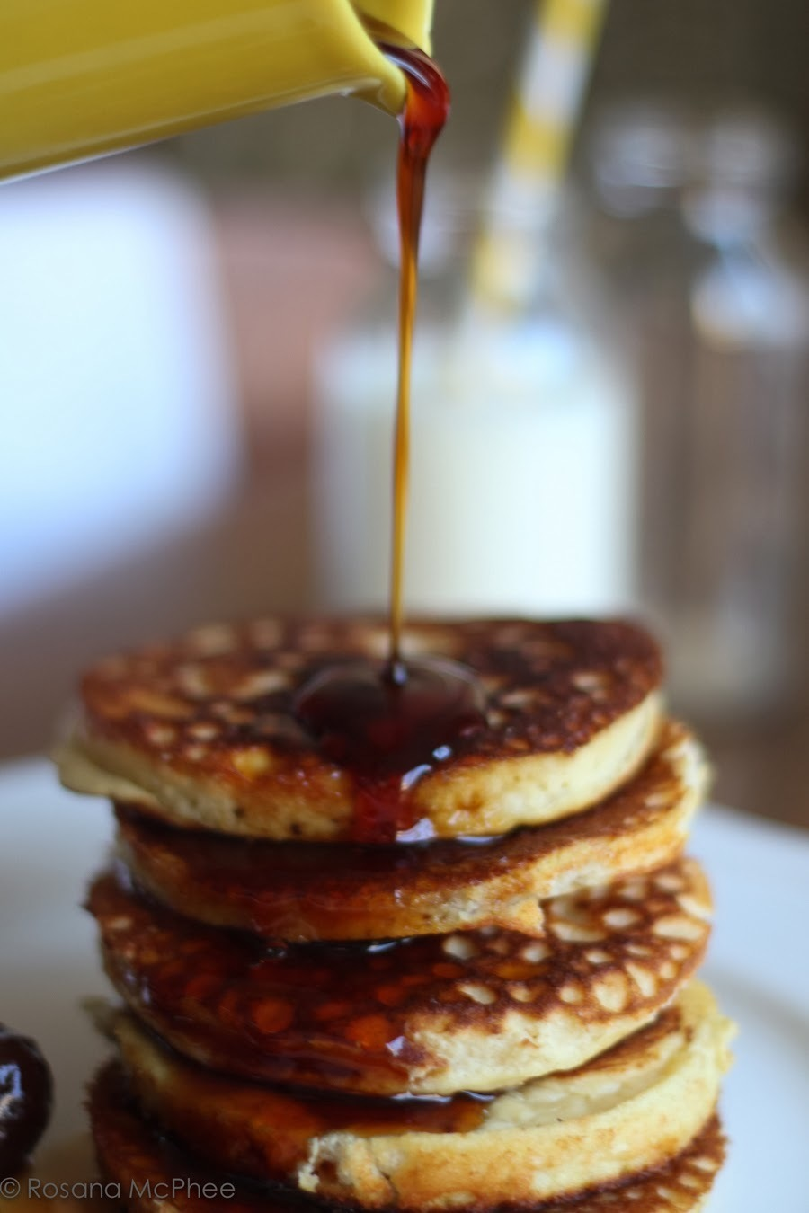 coconut flour pancake with prune syrup recipe (gluten & diary free)