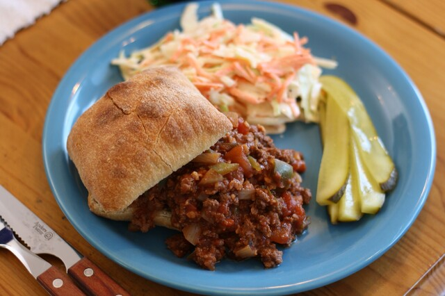 Sloppy Joe ja pain à la viande