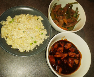 Chinese Feast for 2 (Chinese Beef, Sticky Chicken & Egg Fried Rice)