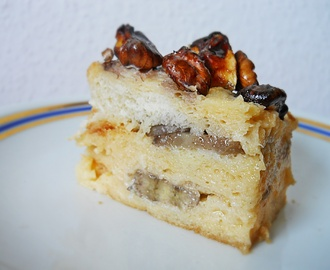 Banános bread and butter pudding