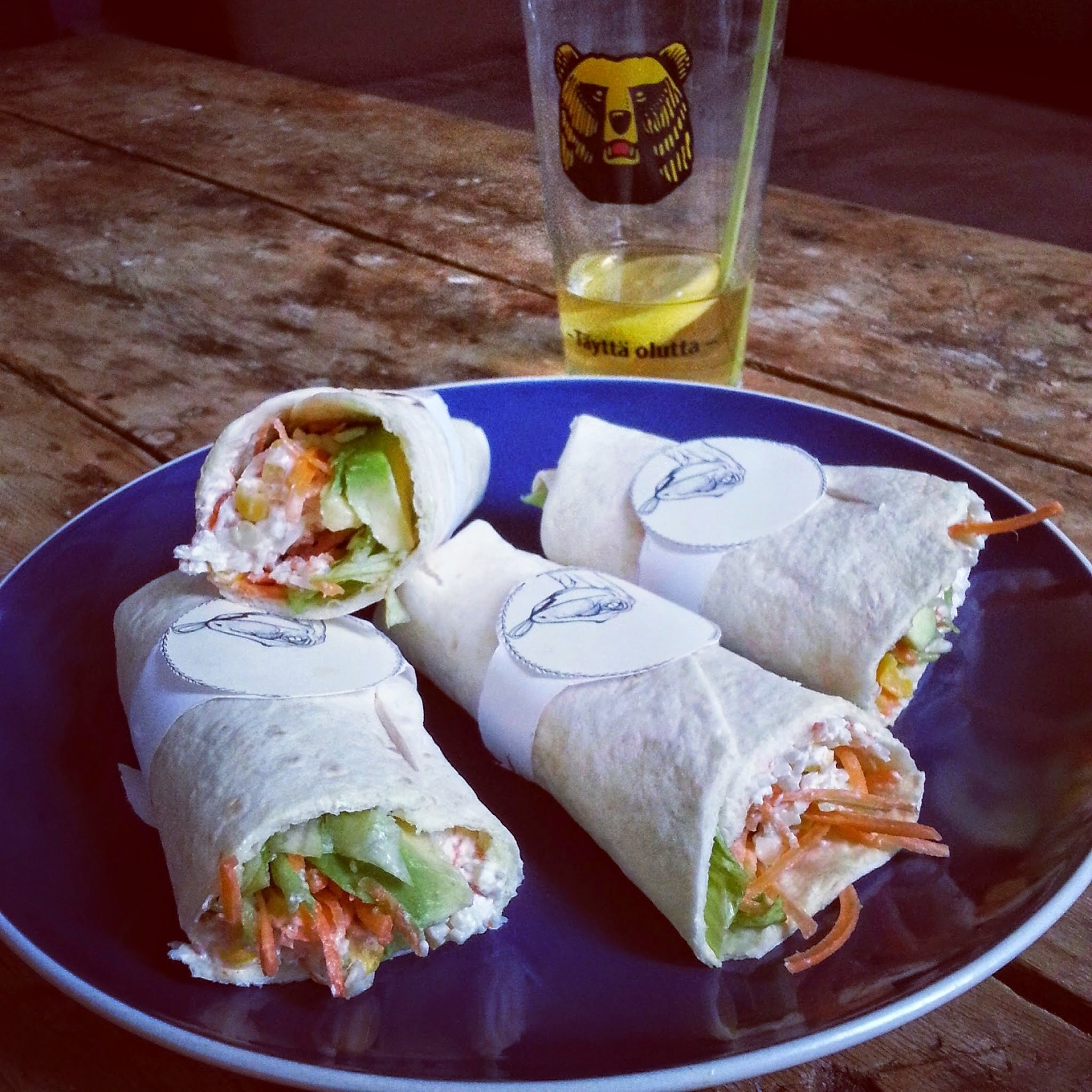 Wrap crabe/avocat etc.