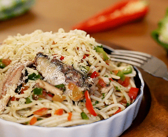 Spanish Sardines Pasta with Cheese