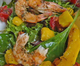 Shrimp , mango salad