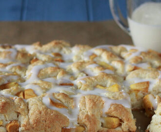 Peaches and Cream Pull Apart Biscuits