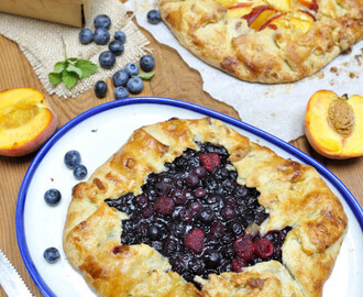 Cornmeal Blueberry and Peach  Gallettes