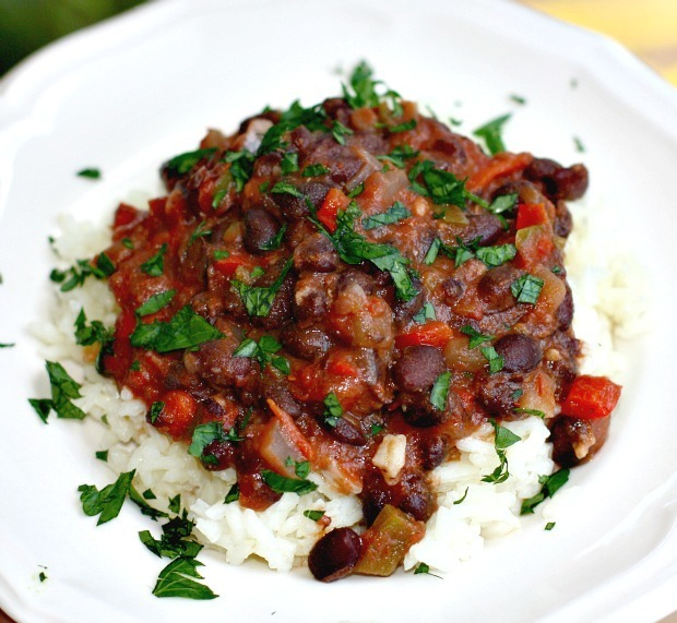Spicy Black Beans and Peppers