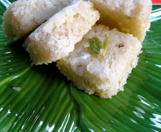 Coconut Burfi Dairy Free Version