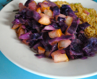 Sweet Pan Fried Cabbage And Quinoa