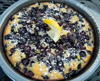 Skinny Summer Blueberry Crunch Cake