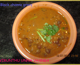 BLACK CHANNA GRAVY (NO COCONUT)