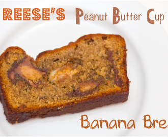 White & Milk Choc Reese's Peanut Butter Cup Banana Bread
