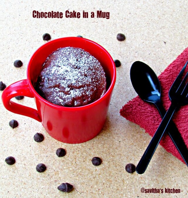 Chocolate Cake in a mug - microwave version / A foolproof recipe