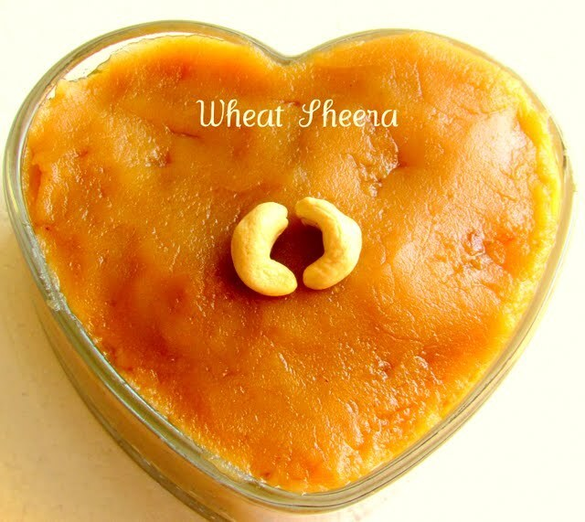 Wheat Sheera / Wheat flour Halwa / Godhumai Halwa - A celebration of  my blog crossing 2,00,000 hits today