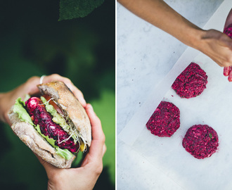 Grilled Beet Burgers
