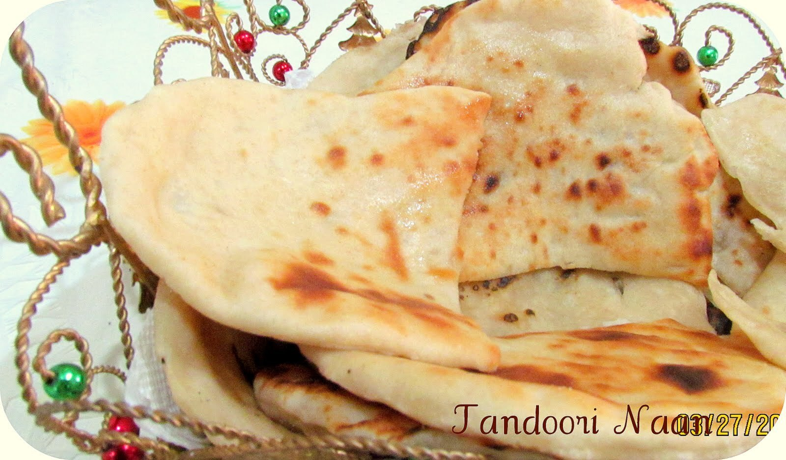 Butter Naan- Tandoori oven effect made easy