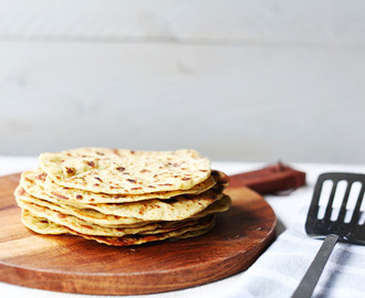 Vegan garlic and herb chickpea flatbread