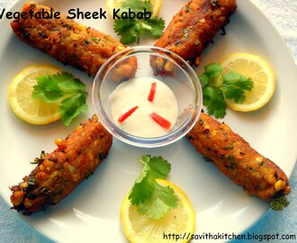Vegetable Sheek Kabab