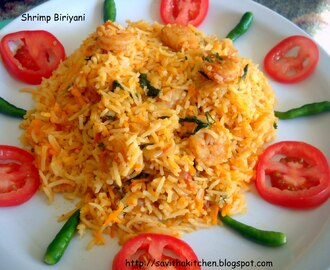 Dhum - Hyderabadi  (Shrimp) Biriyani