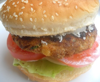 Chicken Burger (Indian Style - Grilled)