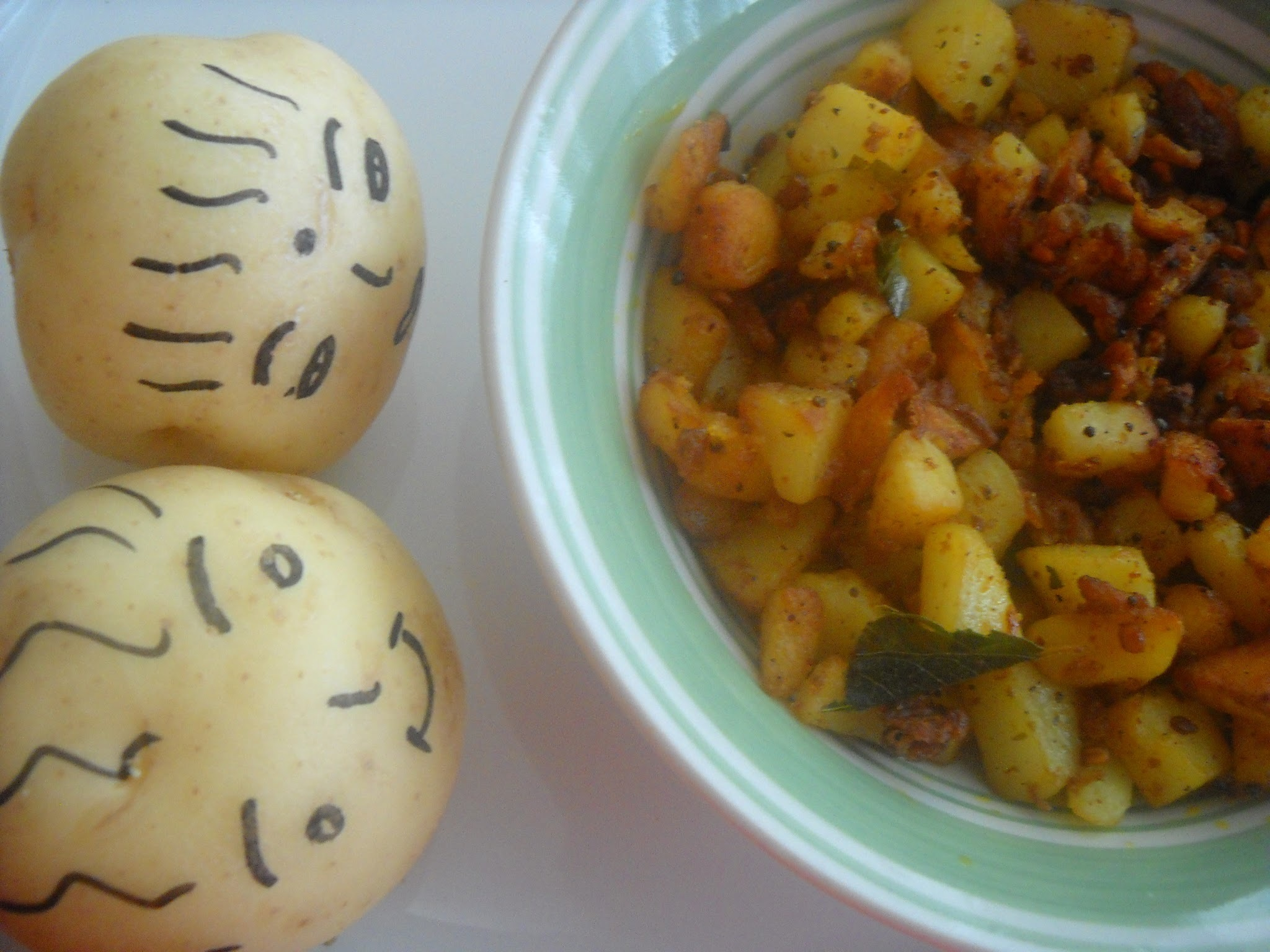 Kids Friendly Potato pepper fry
