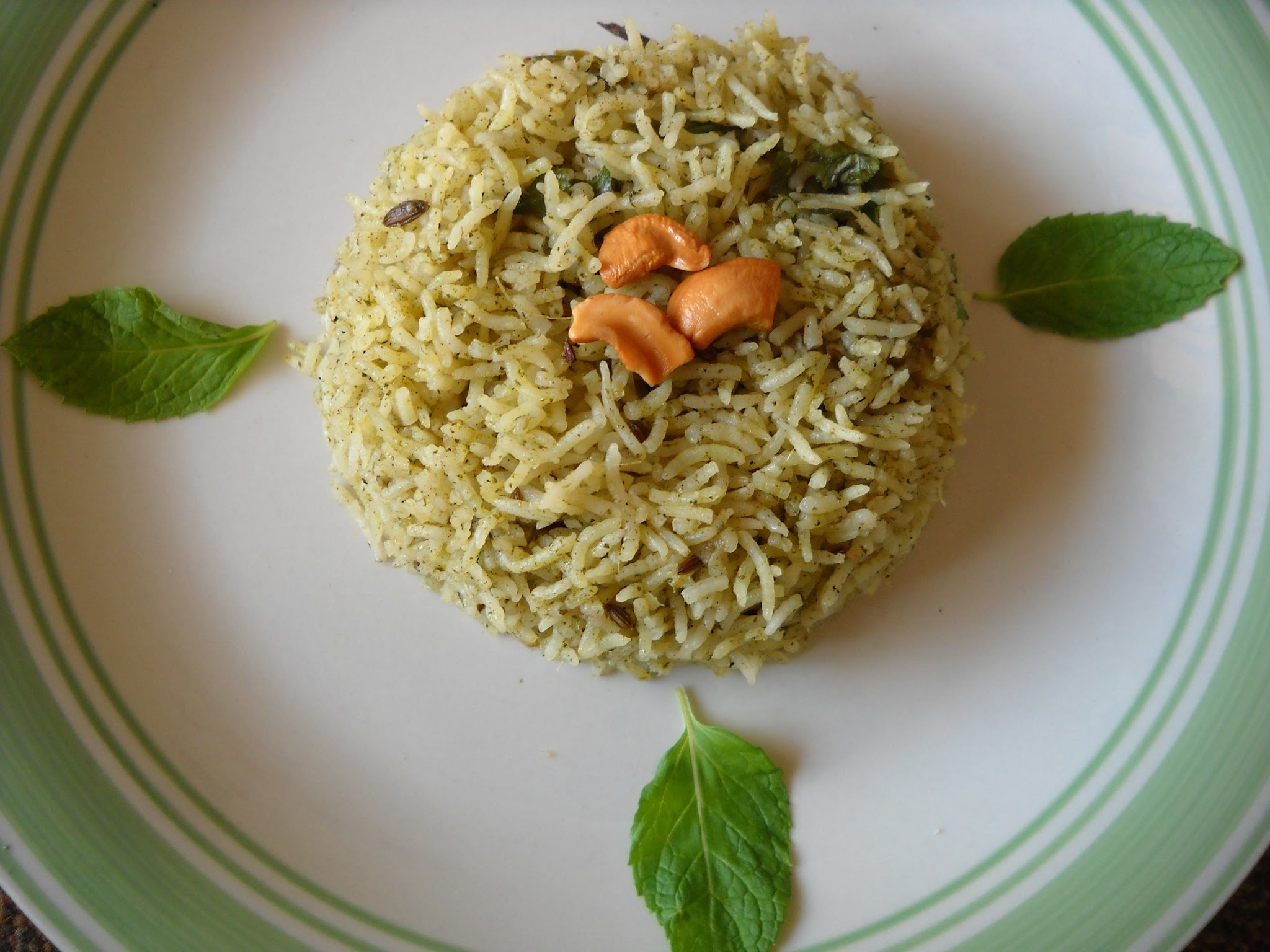 Pudina Pulao (Mint Rice)