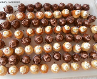 Mini cupcakes à la banane et mini cupcakes banane Nutella - Recette 2 en 1 (Mini cupcakes with banana and Nutella banana mini cupcakes )
