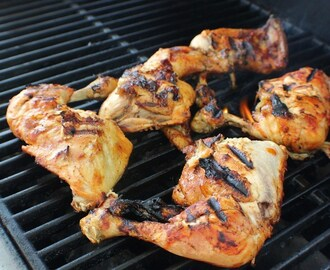 Grilled Chicken with Whiskey Barbecue Sauce Recipe