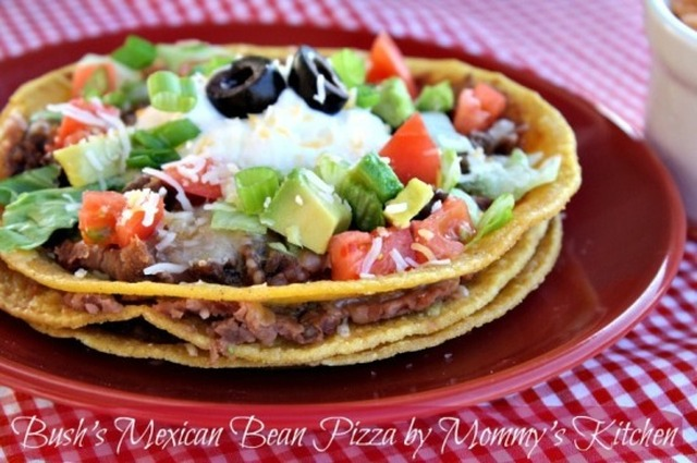 Bush's Mexican Bean Pizza