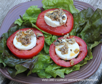 Caprese salad with sardines – gluten free recipe
