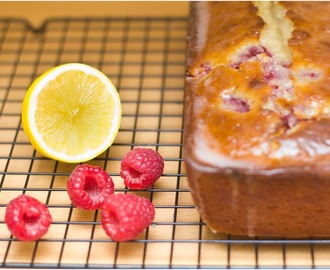 Raspberry & Lemon Loaf Cake