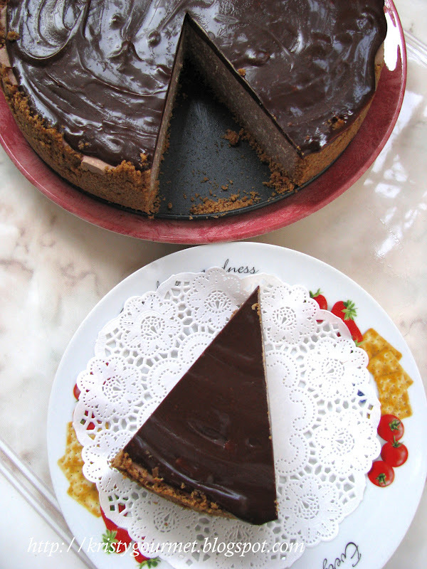 Mocha Sour Cream Cheese Cake (Non-Baked)