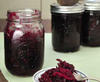 Pickled Red Beets with Horseradish