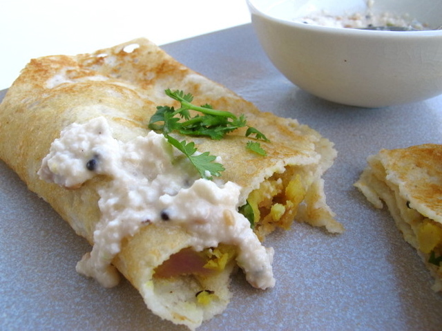 Masala Dosa (with Potato Curry)