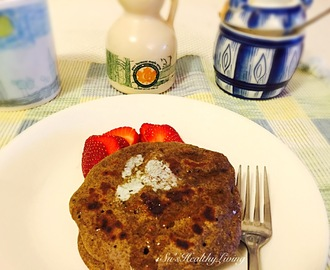4- ingredient Buckwheat Pancakes with vegan option; Meatless Monday.