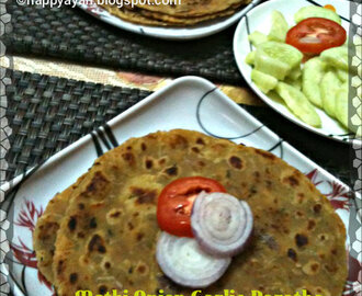 Methi Onion Garlic Paratha