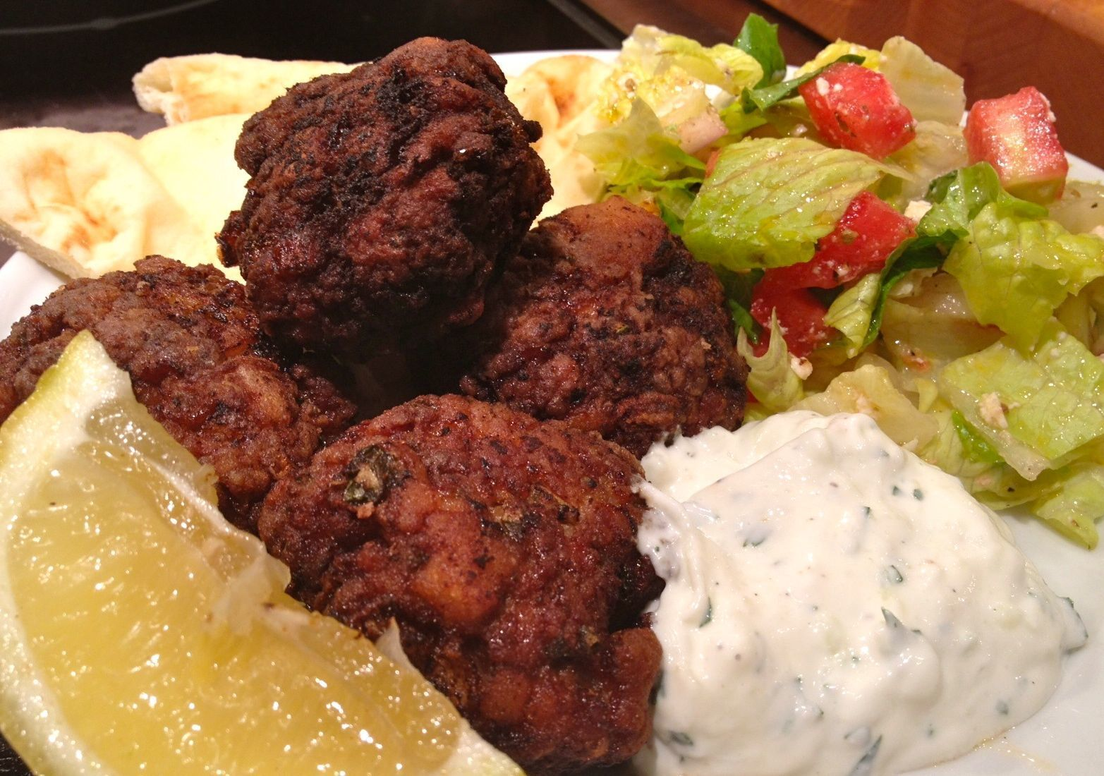 Keftedes  ~ Greek Meatballs with Tzatziki (A huge hit with the family…something different for dinner)