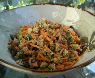 Carrot and Bulgur Salad with Toasted Pine Nuts & Feta….