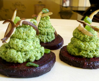 Beet and Broccoli Pesto Blooms! GF, V, SCD!