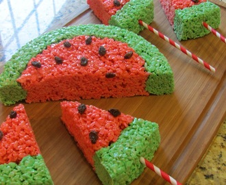 watermelon rice krispies treats party!
