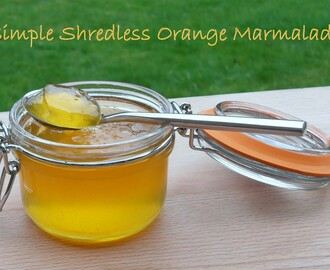 Simple Shredless Orange Marmalade